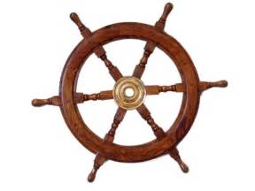 Ship Steering Wheel Decor Buy Deluxe Class Wood And Brass Decorative Ship Wheel 24