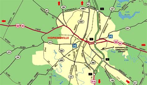kentucky map hopkinsville hopkinsville kentucky