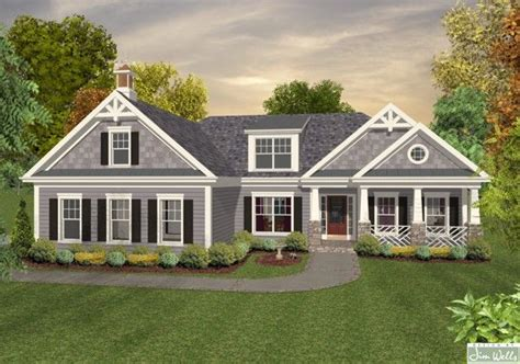 Ranch Style Trim Grey Siding With White Trim Houses Home Plans Ranch