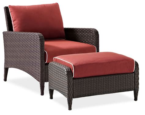 outdoor chair and ottoman corona outdoor chair and ottoman set sangria american