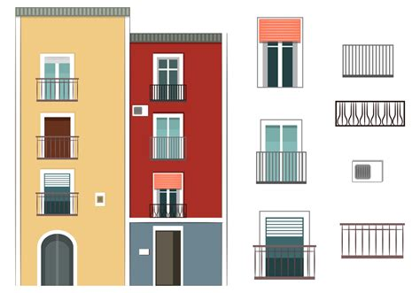 How To Decorate A Studio Apartment colorful building vectors download free vector art