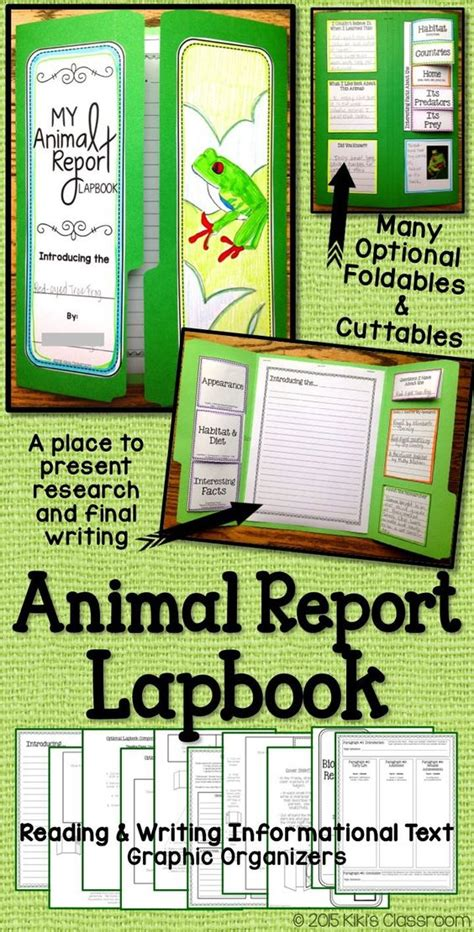 animal book report animal reports a lapbook for animal research