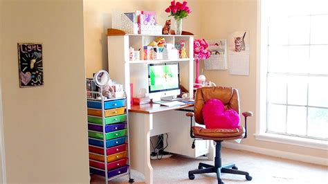 girls room that have a office up stairs room tour a tour of my new makeup room office girl