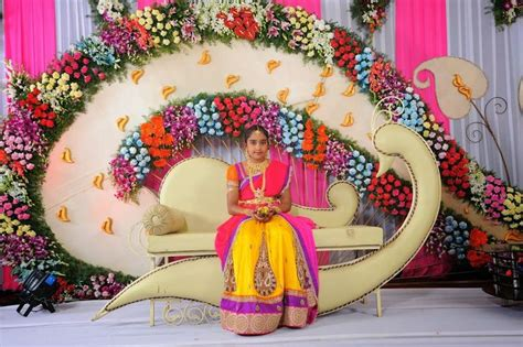 themes in girl in translation stage decoration for half saree functions projects to