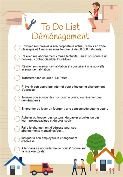 To Do List Demenagement by To Do List Mon D 233 M 233 Nagement
