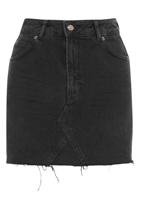 moto denim mini skirt topshop