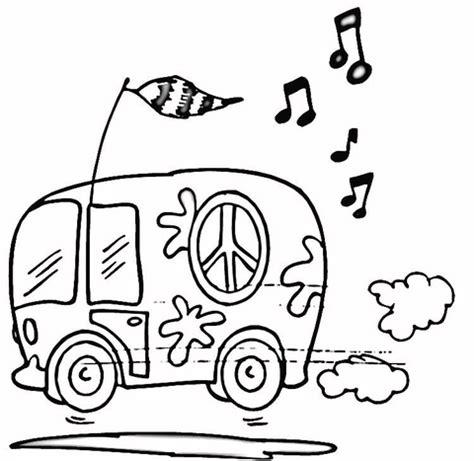 Coloriage Minibus Hippie Coloriages 224 Imprimer Gratuits Vw Coloring Page