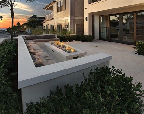 building pit seating rectangle pit patio contemporary with doors built in seating patio