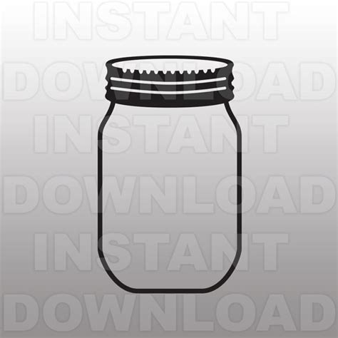 jar cut out template jar svg file cutting template clip for commercial