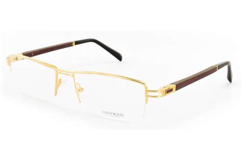 gold wood cosmic 02 01 eyeglasses free shipping