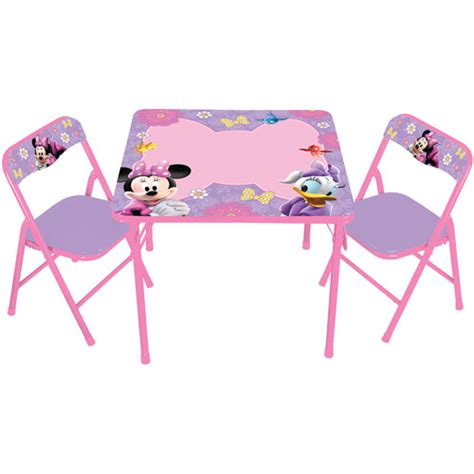 Minnie Table And Chair Set by Disney Minnie Mouse Boutique Erasable Activity Table And
