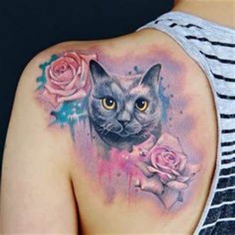 tattoo cat and rose cat tattoo i think i d want my orange one to look more