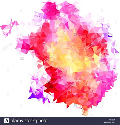 color splash abstract color splash shape triangulated geometric low