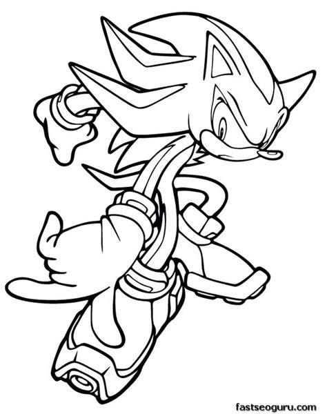 printable sonic the hedgehog shadow coloring pages