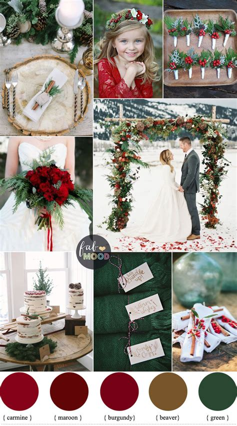 colour themes for christmas a christmas themed wedding with the lush colours of deep