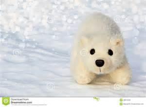 toy polar bear cub in the arctic stock photo image 28672340