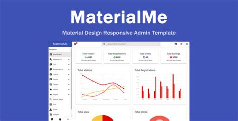 Materialme Material Design Admin Template By Designlayout Themeforest Material Design Admin Template Free
