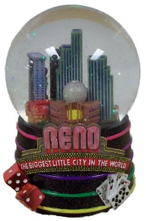 6 quot reno nevada wind up musical snow water globe dome