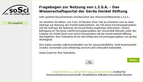 Anschreiben Umfrage Beispiel Alle Beitr 228 Ge L I S A Das Wissenschaftsportal Der Gerda Henkel Stiftung