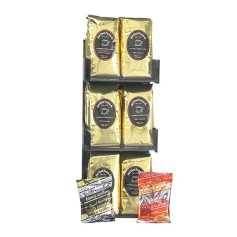 Ribbon Holder 6r gold medal 7016 coffee merchandising rack w 18 12 oz bags of coffee