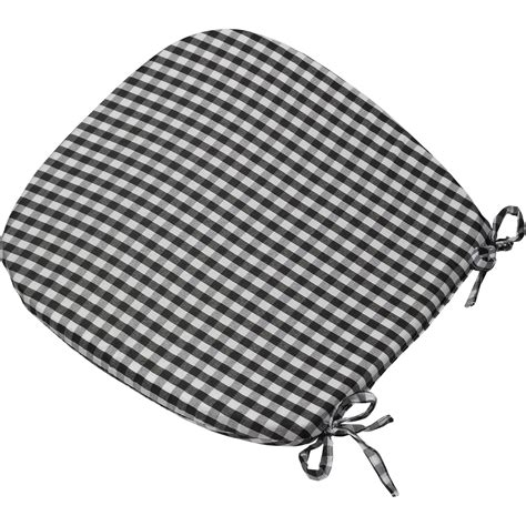 black and white chair pads checked seatpad dining kitchen garden chair seat cushion
