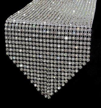 crystal rhinestone table runner for weddings or christmas