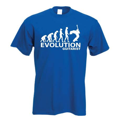 tshirt evolution guitarist blue evolution of a guitarist t shirt new evolution of