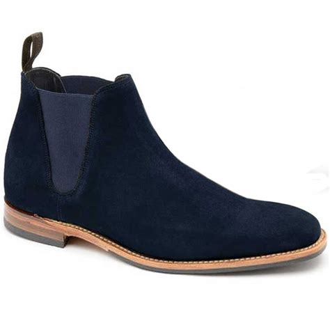 chelsea boots mens loake mens caine navy suede chelsea boots at marshall shoes