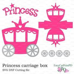 princess carriage template princess carriage box template studio v 3 dxf svg baby