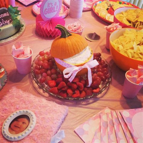 Dips For Baby Shower by Fruit Dip Pumpkin Baby Shower Baby Shower Ideas
