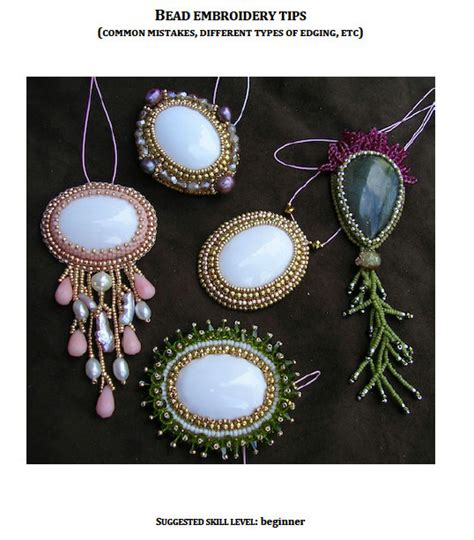 bead embroidery stitches pdf tutorial tips and tricks in bead embroidery by madebyolga