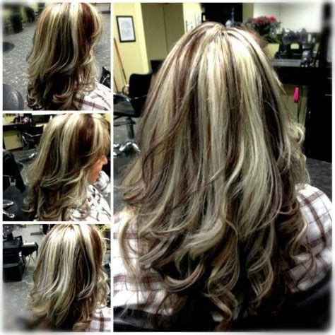 dramatic highlights pics dark brown hair with blonde highlights google search