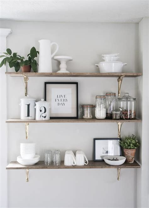 kitchen shelf decorating ideas best 25 kitchen wall shelves ideas on pinterest wall