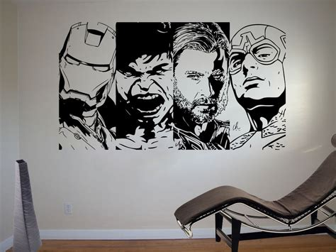 retro wall murals retro wall sticker comic vinyl mural wa619 ebay
