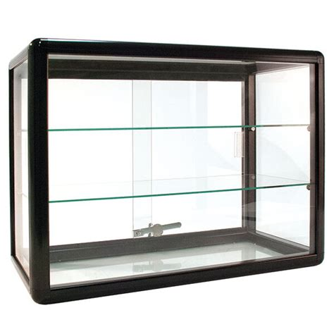Countertop Showcase by New Aluminum Frame Black Finish Countertop Showcase 24w