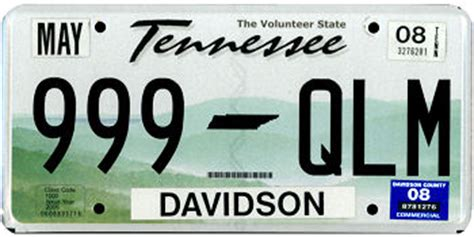 Tennessee Vanity Plates by Custom Tennessee License Plate Image Mag