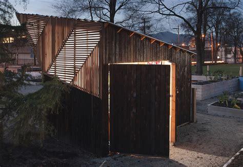 sleek community garden shed  storage  gathering