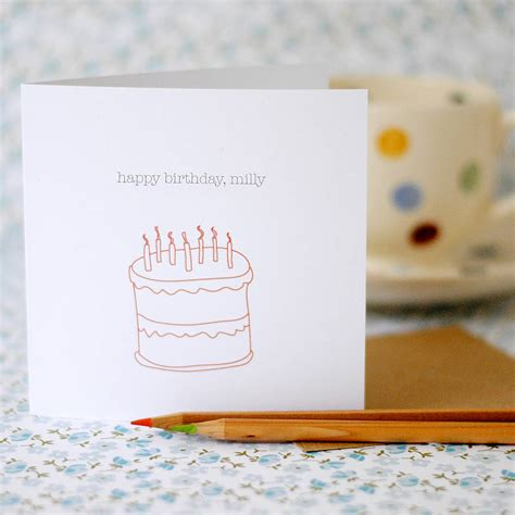 personalised happy birthday card by the green gables notonthehighstreet
