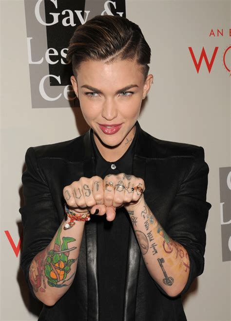 ruby rose new tattoo ruby hairstyles hair world magazine