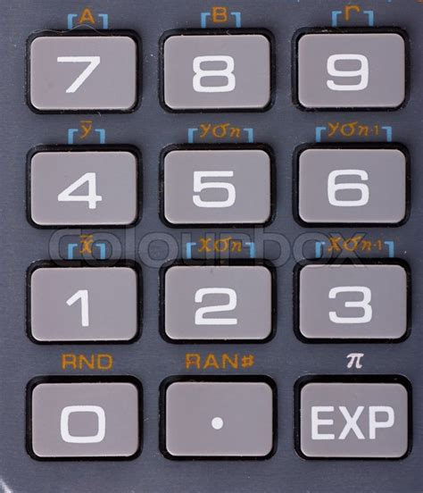 calculator numbers closeup view of numbers on a calculator keyboard stock