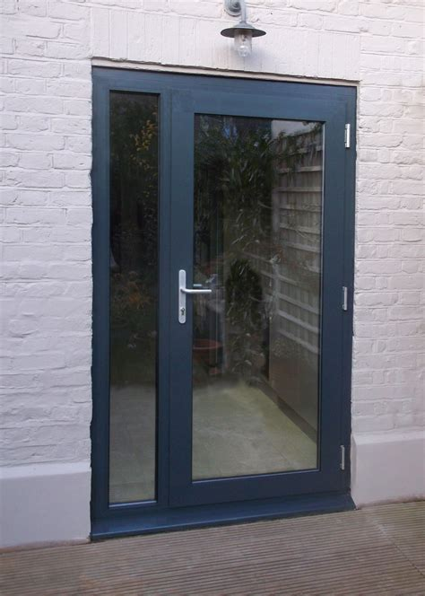 Aluminium Single Door Kl70 Configuration 3 Painted Ral Aluminium Doors Exterior