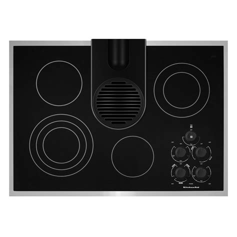 electric cooktop with downdraft kitchenaid 30 quot electric ceramic glass conventional cooktop with downdraft vent system kecd806r