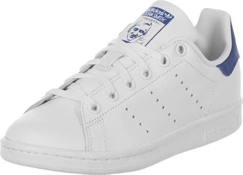 Adidas Stant Smit Formen adidas stan smith j w shoes white blue