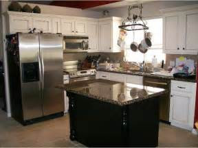 White Kitchen Cabinets With Black Island Kitchen Island With White Cabinets Black