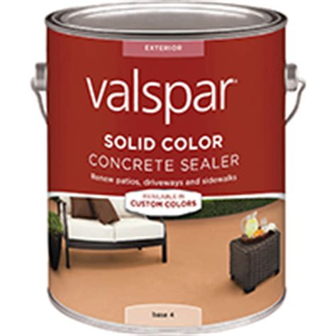 valspar  solid color concrete sealer base