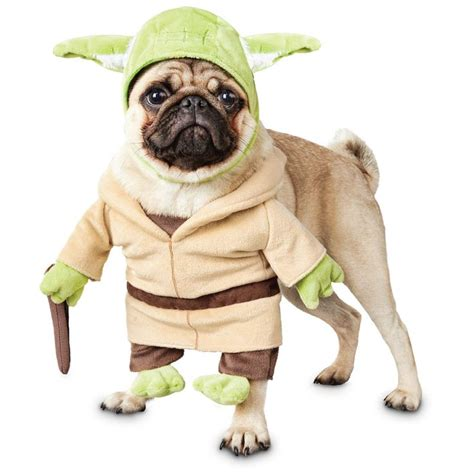 pug in yoda costume yoda costume accessories yoda costume lightsabers masks beds and costumes