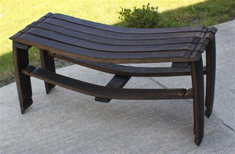 wine barrel bench wine barrel stave bench stave designsstave designs