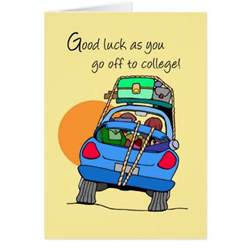3758 to college whimsical car greeting card zazzle