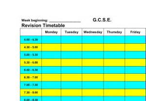 revision timetable gcse art marked by teachers com