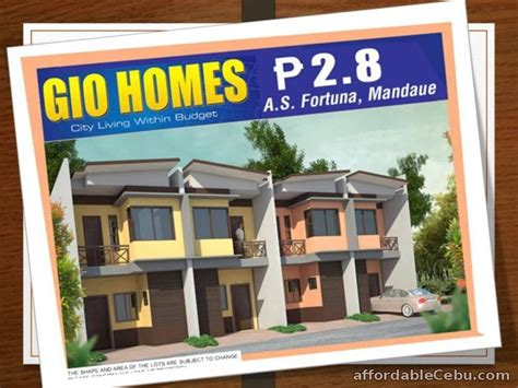 house lot for sale in cebu gio homes a s fortuna for